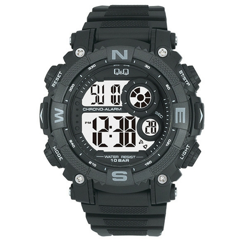 שעון יד דיגיטלי עם סטופר ושעון מעורר לגבר מבית Q&Q