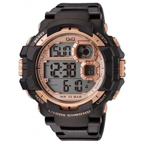 שעון יד דיגיטלי עם סטופר ותאורה לגבר מבית Q&Q