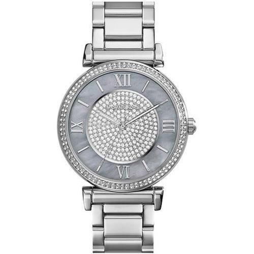 שעון יד אנלוגי כסף פנינה איכותי לאישה Michael Kors