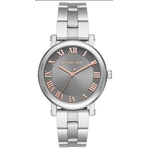 שעון יד אנלוגי קוורץ כסוף לאישה מבית Michael Kors