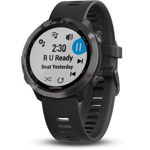 שעון ספורט חכם מסגרת שחורה Garmin Forerunner 645