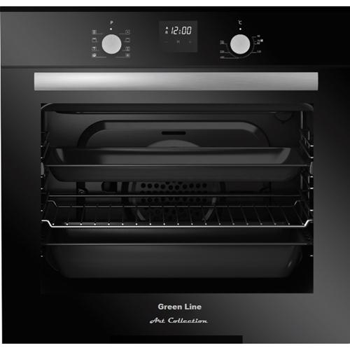 תנור בנוי זכוכית שחורה מסדרת Art Collection