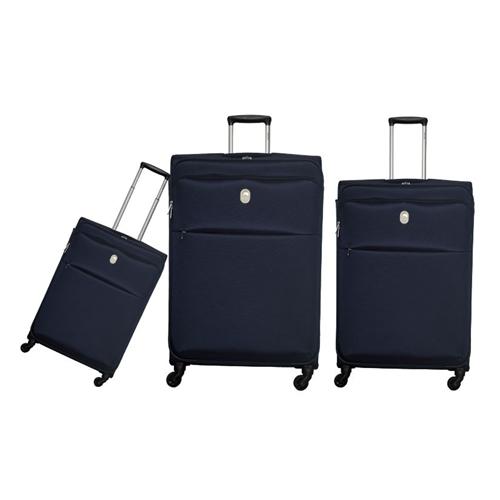 """שלישיית מזוודות בד איכותיות """"20/ """"24/ """"28 DELSEY"""