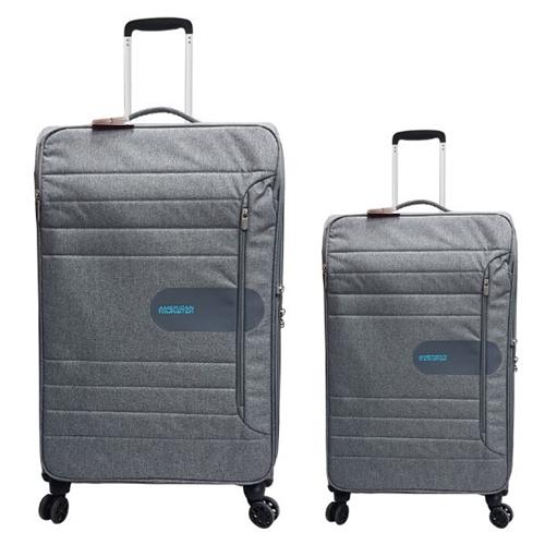 """זוג מזוודות 24"""" + 28.5"""" איכותיות אמריקן טוריסטר"""