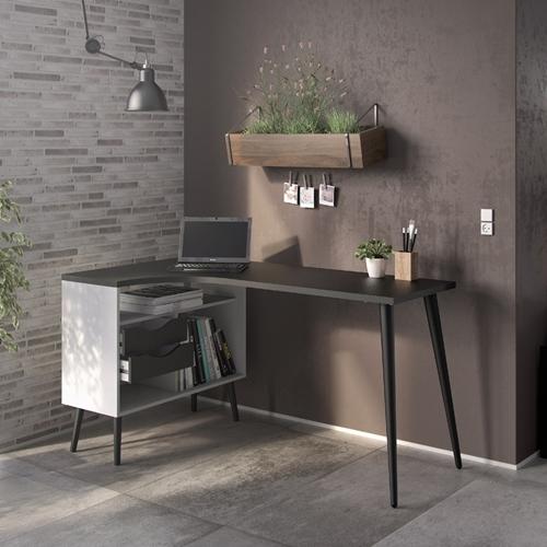 שולחן כתיבה מעוצב רטרו עם שידת אחסון HOME DECOR