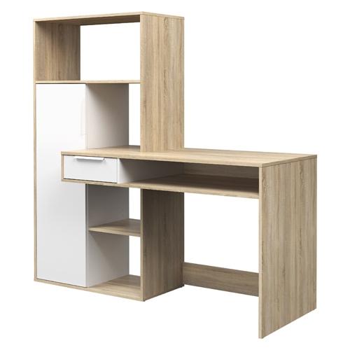 עמדת עבודה עם שולחן כתיבה וספרייה מבית HOME DECOR
