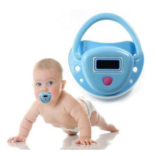 מד חום מוצץ מהפכני וייחודי לתינוק בצבע כחול/ורוד