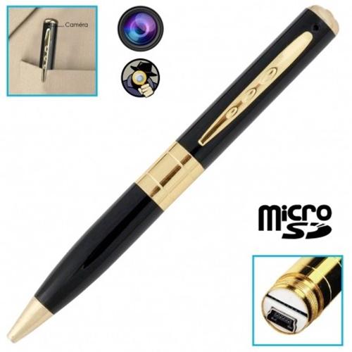 עט כתיבה מדליק מוסלק במצלמת ריגול וידאו וקול