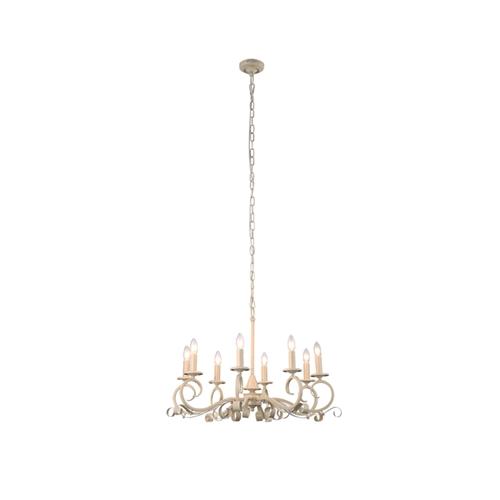 מנורת תליה בגוון שמנת מעוצבת בסגנון אלגנטי ביתילי