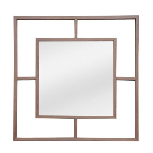 מראה מעוצבת עשויה ממראה עם מסגרת עץ אלון ביתילי