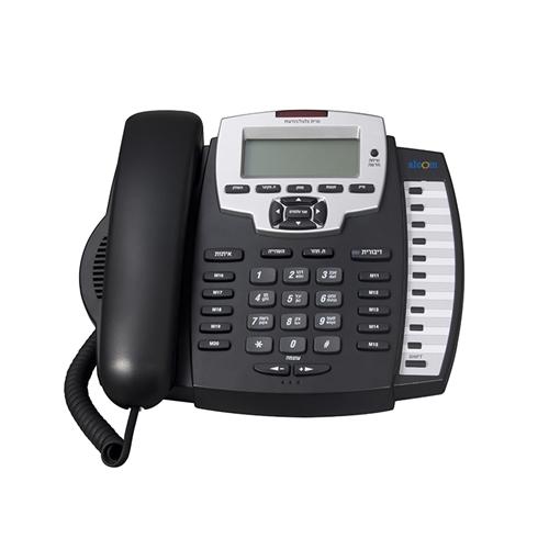 טלפון שולחני כולל צג שיחה מזוהה בעברית מבית ALCOM