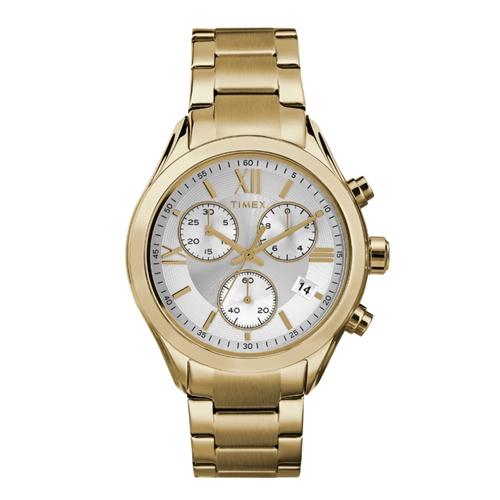 שעון כרונוגרף אופנתי לאישה בצבע זהב מבית TIMEX