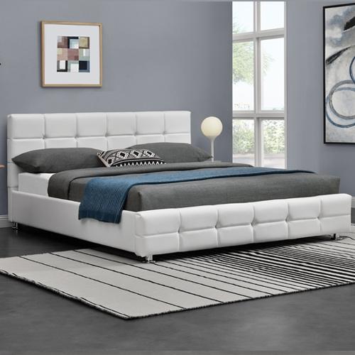 מיטה זוגית מעוצבת בריפוד דמוי עור מבית HOME DECOR