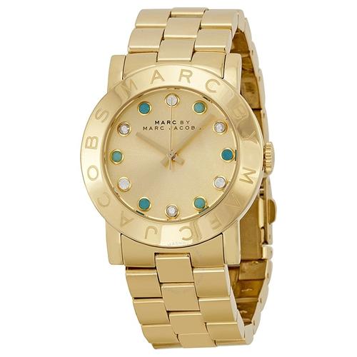 שעון יד אנלוגי מוזהב במראה יחודי לאישה MARC JACOBS