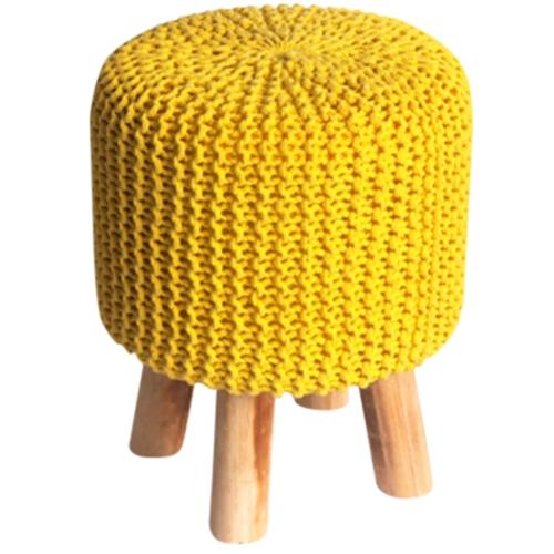 הדום צהוב מעוצב למראה אפנתי וייחודי לסלון ביתילי