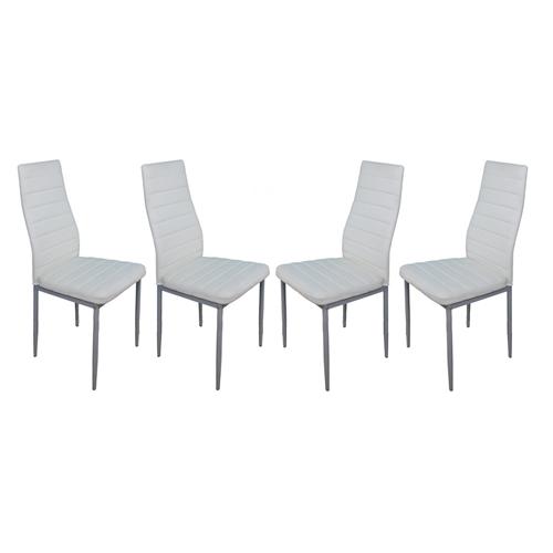 סט 4 כיסאות מרופדים לפינת אוכל מבית GAROX