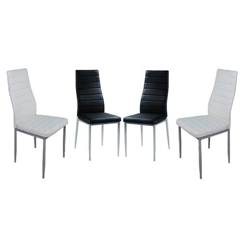 סט 4 כיסאות מרופדים לפינת אוכל בעיצוב איטלקי GAROX