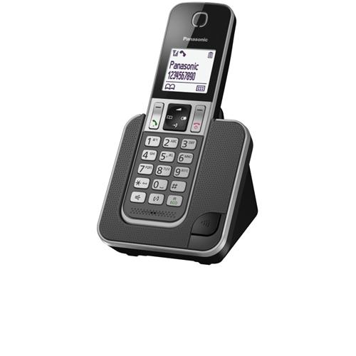 """טלפון אלחוטי מעוצב עם צג מואר 1.8"""" KX-TGD310MBB"""