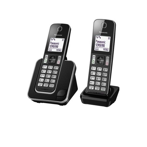 """טלפון אלחוטי + שלוחה עם צג מואר 1.8"""" KX-TGD312MBB"""