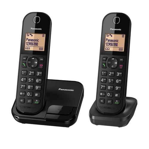 """טלפון אלחוטי + שלוחה אחת צג מואר 1.6"""" KX-TGC412MBB"""