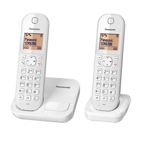 """טלפון אלחוטי + שלוחה אחת צג מואר 1.6"""" KX-TGC412MBW"""