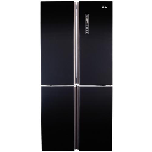 מקרר 4 דלתות 547 ליטר זכוכית שחורה מבית HAIER