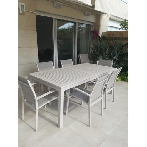 שולחן אלומיניום נפתח עמיד ואיכותי מיועד לגינה