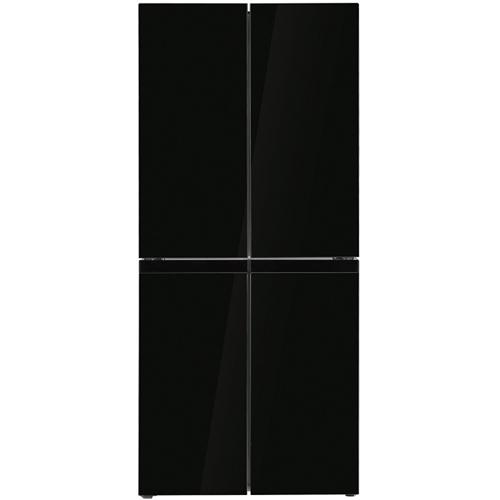 מקרר 4 דלתות מקפיא תחתון 405 ליטר זכוכית שחורה