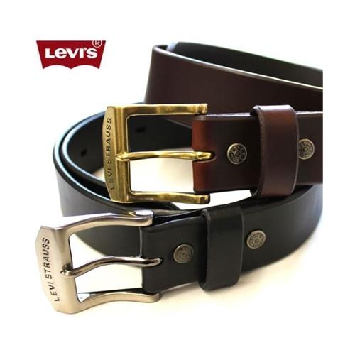 חגורות LEVI'S לגברים בעיצוב אלגנטי עשוי מעור