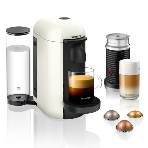 מכונת קפה NESPRESSO VertuoPlus לבן כולל מקציף חלב