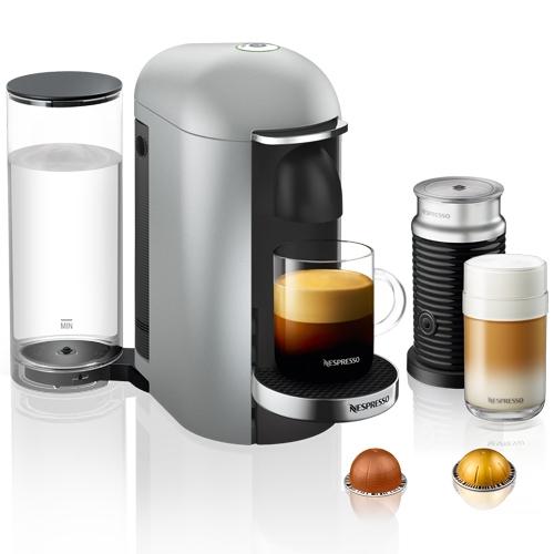 מכונת קפה NESPRESSO VertuoPlus כסוף כולל מקציף חלב