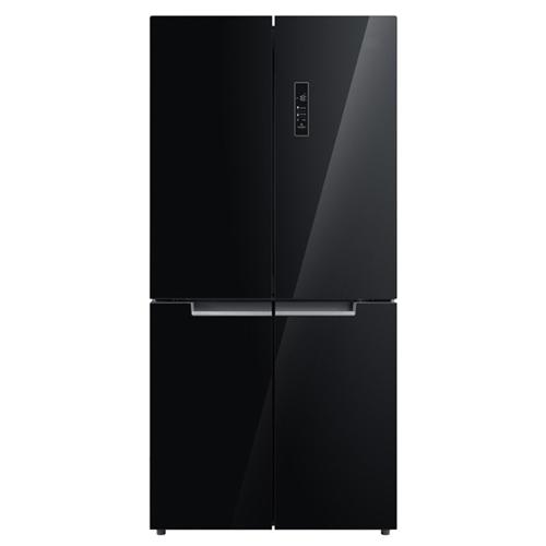 מקרר 4 דלתות 544 ליטר זכוכית שחורה MIDEA