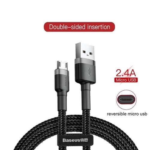 """כבל טעינה איכותי חזק ועמיד עם ראש מיקרו USB דו""""צ"""
