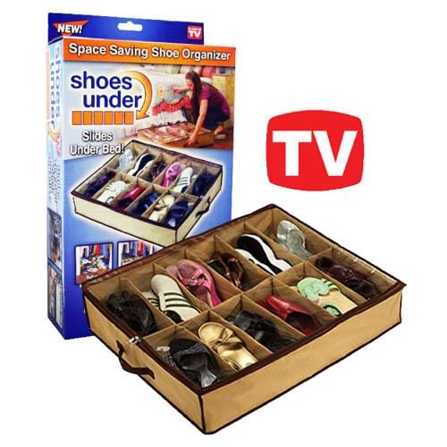 ארגונית נעליים איכותית למיקום מתחת למיטה TVITEMS