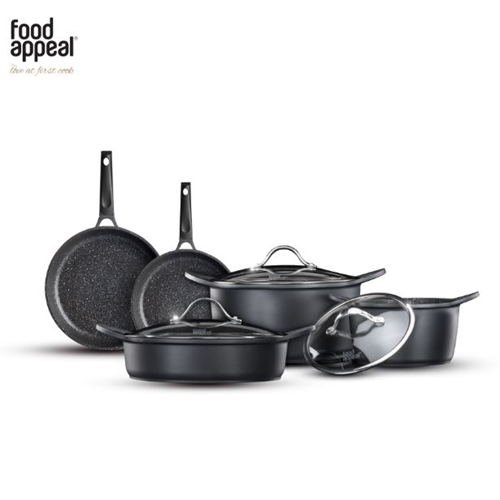 סט מהודר למטבח 8 חלקים שיש שחור מבית food appeal
