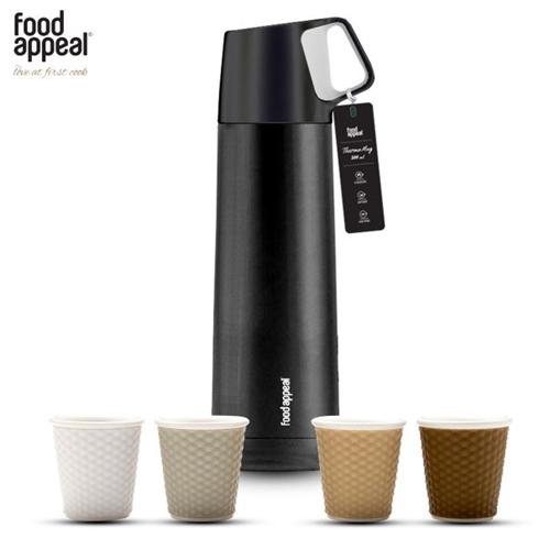 סט קפה לפיקניק תרמוס + 4 כוסות אספרסו food appeal