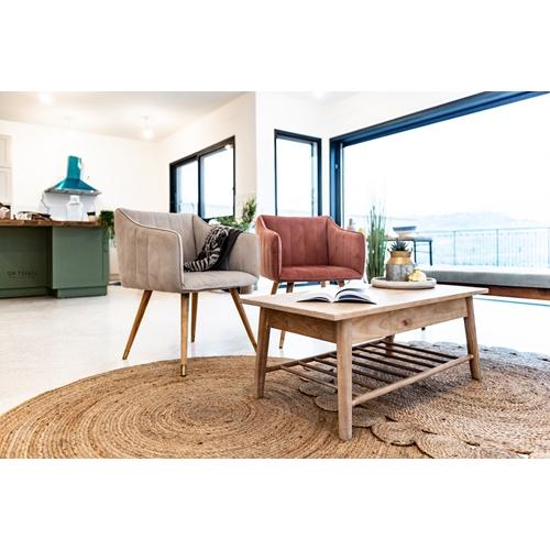 שולחן סלון קלאסי מעץ מלא בגוון בהיר TUDO DESIGN