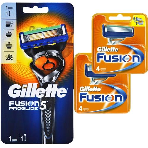 9 סכיני גילוח פיוז'ן +מכשירFLEXBALL