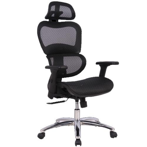 """כסא מנהלים אורטופדי עם גב רשת ד""""ר גב"""
