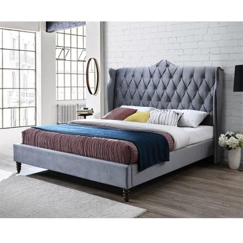 מיטה זוגית מפוארת 180x200 מרופדת בד קטיפה