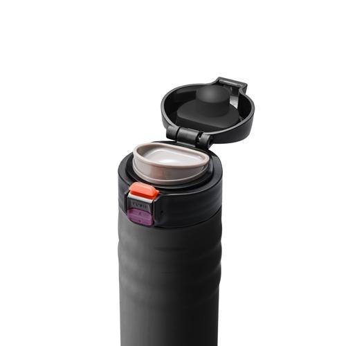 """כוס תרמית קרמית 340 מ""""ל שחורה של המותג Kyocera"""