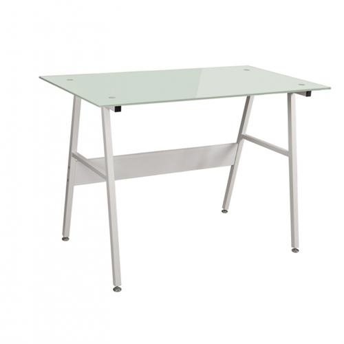 שולחן מחשב זכוכית איילת לבן/ שחור HKlein