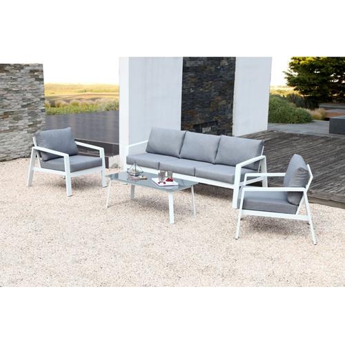 סט גינה דגם ונציה - תלת מושב + 2 יחיד + שולחן