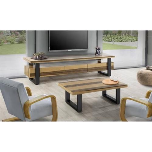 סט מזנון ושולחן עשוי מעץ בשילוב פורניר דגם וודסטוק