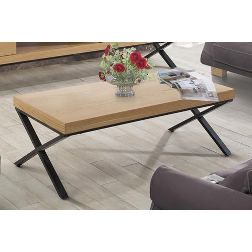 שולחן לסלון בשילוב MDF מצופה פורניר דגם אופיר
