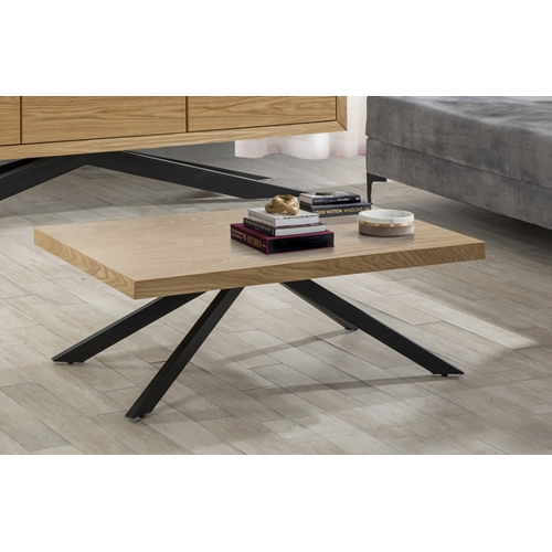 שולחן לסלון בשילוב MDF מצופה פורניר דגם אורן