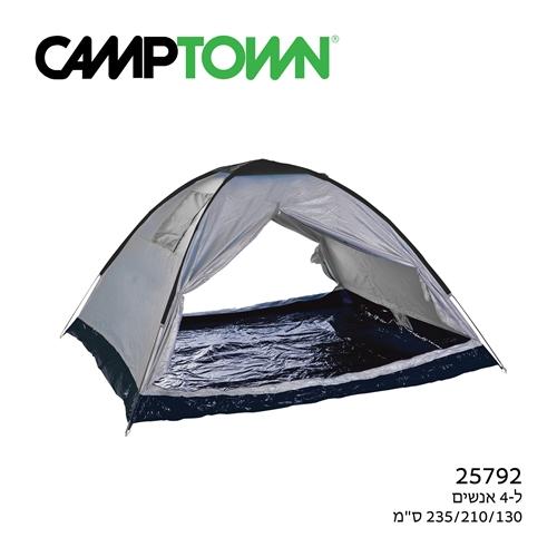 אוהל 2 פתחים ל-4 אנשים BREEZE של CAMPTOWN