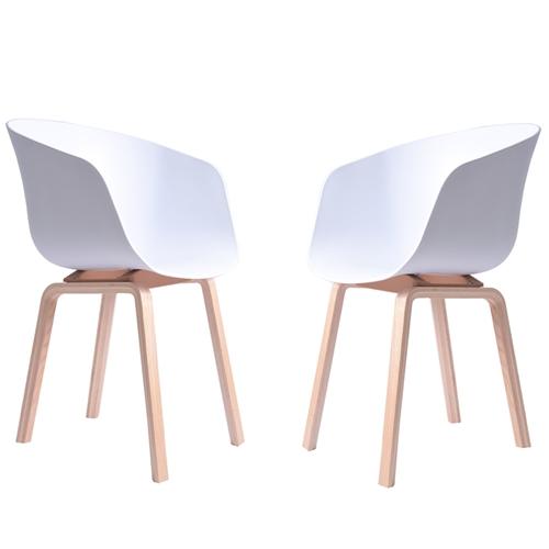 זוג כיסאות מעוצבים דגם גורן לבן