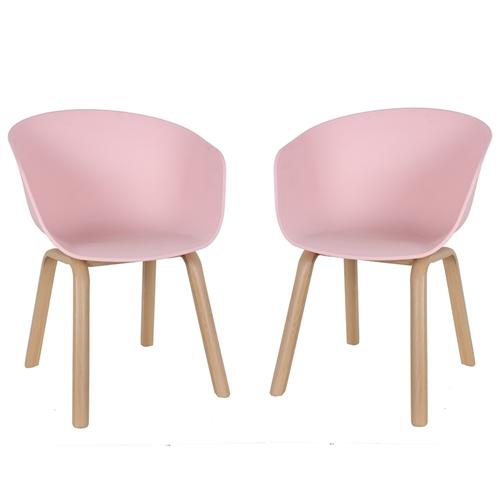 זוג כיסאות מעוצבים דגם גורן ורוד