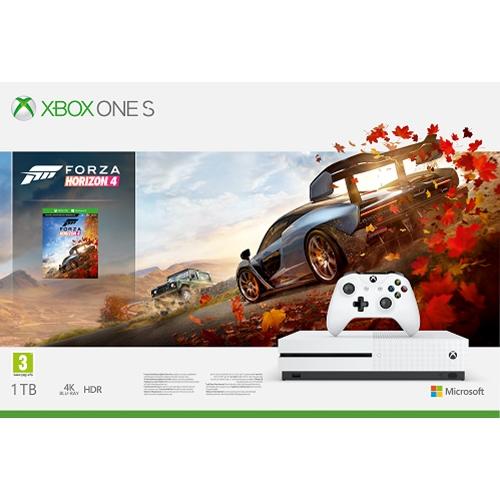 קונסולת Xbox One S 1TB+משחק Forza Horizon 4+מתנה!
